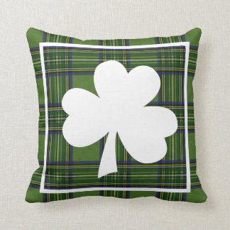 Happy St. Patty's Day Plaid Cushion
