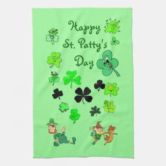 Happy St. Patty's Day Shamrock Kitchen Towel