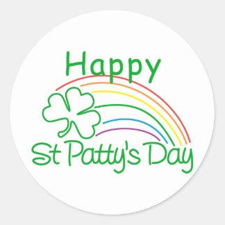 Happy St Patty's Day Round Sticker