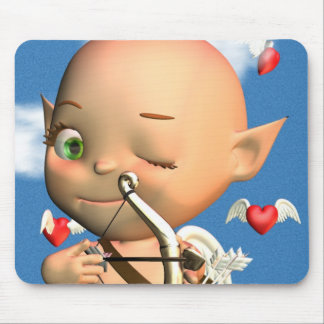Happy St Valentine s Day Cupid Mouse Mat