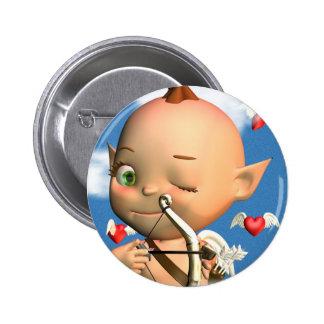 Happy St. Valentine's Day Cupid 6 Cm Round Badge
