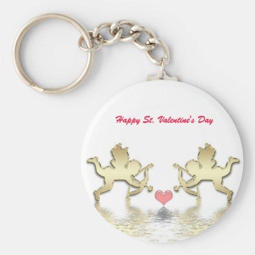 Happy St. Valentine's Day keychain