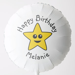 Happy Star Birthday Helium Balloon
