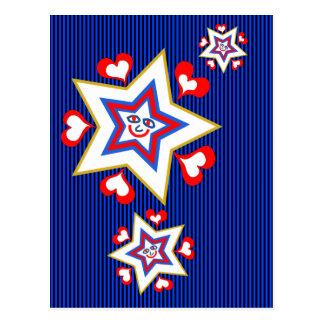 Happy star holiday postcard