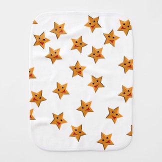 Happy stars burp cloth