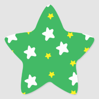 Happy Stars Green Star Sticker