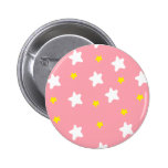 Happy Stars Pink Buttons