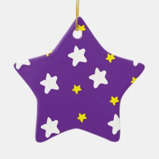 Happy Stars Purple Christmas Ornament