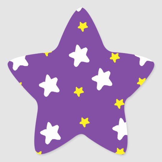 Happy Stars Purple Star Sticker