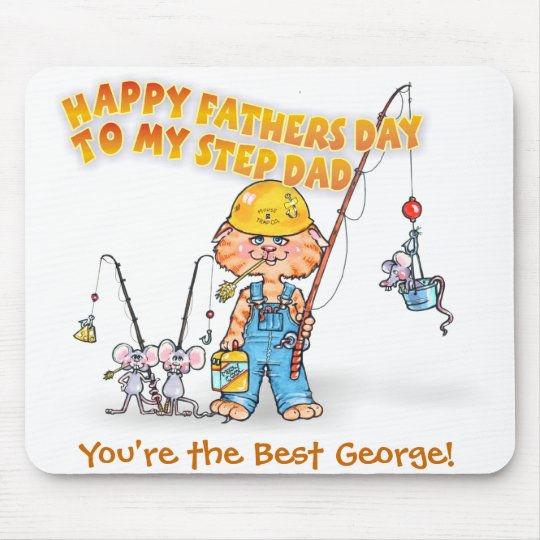 Happy Step Dad Fathers Day Mouse Mat