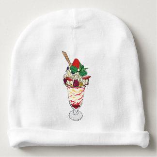 Happy Strawberry Sundae Baby Beanie