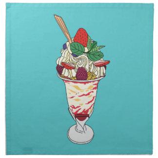 Happy Strawberry Sundae Napkin