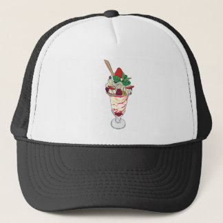 Happy Strawberry Sundae Trucker Hat