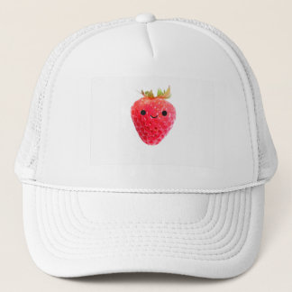 Happy Strawberry Trucker Hat