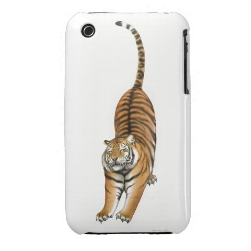 Happy Stretching Bengal Tiger iPhone 3 Case