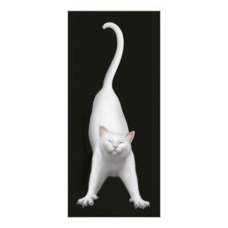Happy Stretching Cat Bookmark Custom Rack Cards