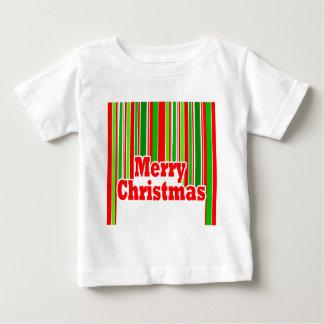 Happy Stripe MERRY CHRISTMAS Baby's Tee Shirt