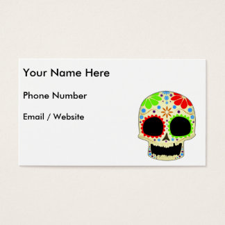 Happy Sugar Skull Art Business Card