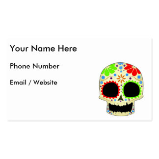 Happy Sugar Skull Art Pack Of Standard Business Cards