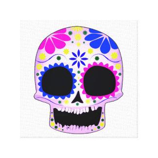 Happy Sugar Skull Design Gallery Wrapped Canvas