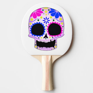 Happy Sugar Skull Design Ping Pong Paddle