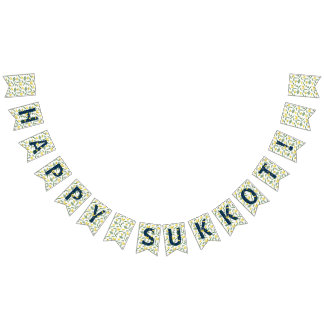 Happy Sukkot Party Bunting Banner