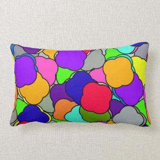 Happy Summer Colorful Cloud Shapes Pattern, Lumbar Cushion