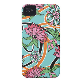 happy summer floral pattern Case-Mate iPhone 4 case