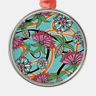 happy summer floral pattern christmas ornament