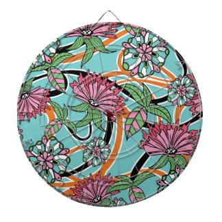 happy summer floral pattern dart board