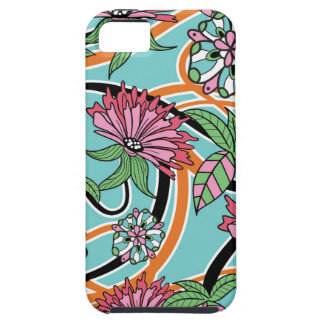 happy summer floral pattern iPhone 5 cover