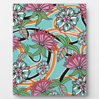 happy summer floral pattern plaque