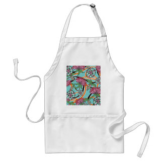 happy summer floral pattern standard apron