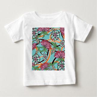 happy summer floral pattern tshirt