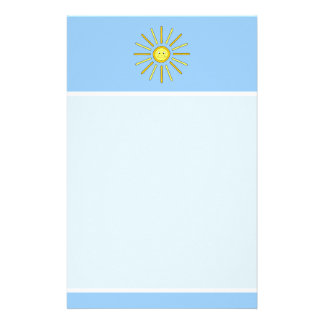 Happy Summer Sun. Yellow and Blue. Personalised Stationery