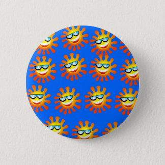 Happy Sun 6 Cm Round Badge