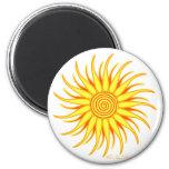 Happy Sun 6 Cm Round Magnet