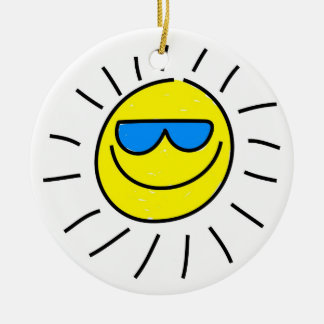 Happy Sun Christmas Ornament
