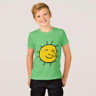Happy Sun Face Design T-Shirt for Kids