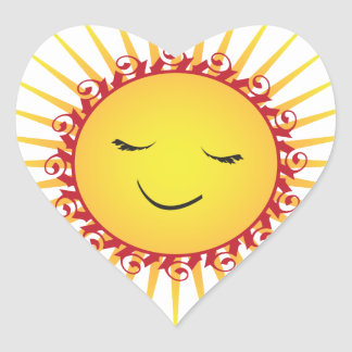Happy Sun -fun- Heart Sticker