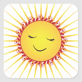 Happy Sun -fun- Square Sticker