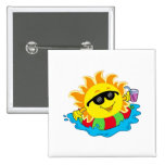 Happy Sun in the Pool Badges