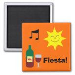 Happy Sun, Music & Wine Orange Fiesta magnet