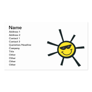 Happy Sun Pack Of Standard Business Cards