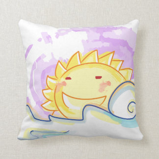 Happy sun rise pillow