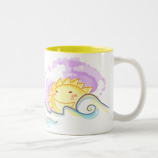 Happy sun rise Two-Tone coffee mug