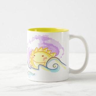 Happy sun rise Two-Tone mug