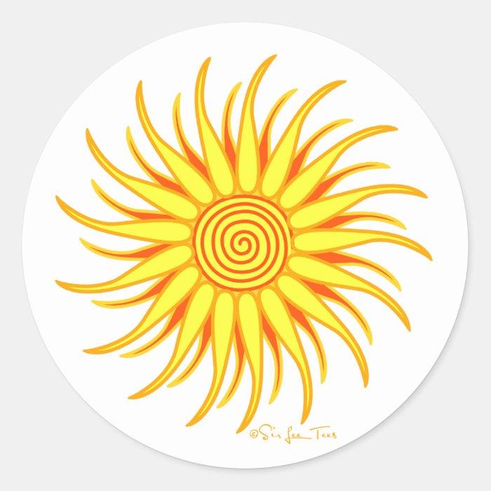 Happy Sun Round Sticker
