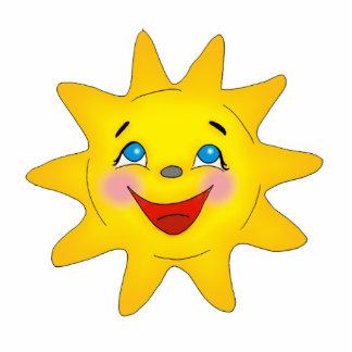 Happy sun - sculpture standing photo sculpture