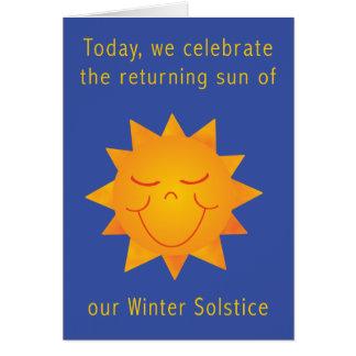 Happy Sun Solstice 2 Greeting Card